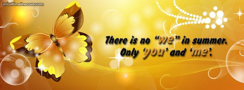 Only You And Me In Summer Facebook Cover Photos