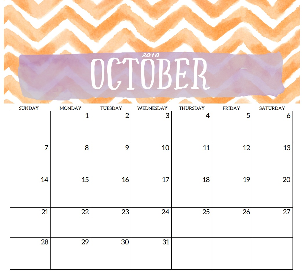 Printable October 2018 Calendar Spanish
