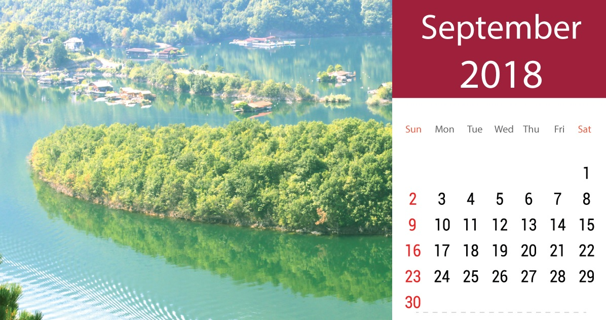 Printable September 2018 Calendar For Desk