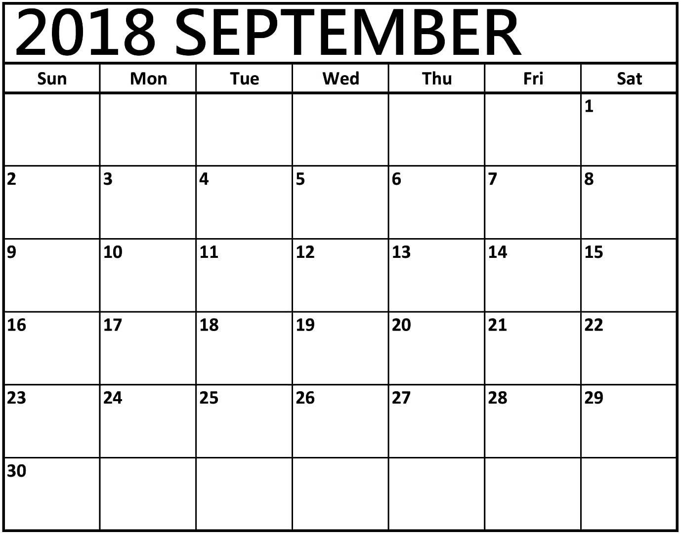 Printable September 2018 Calendar Spanish