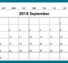 September 2018 Calendar Australia Template