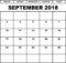 September 2018 Calendar Excel