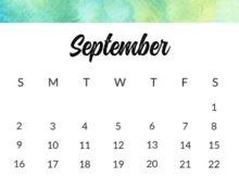September 2018 Calendar For Office Desk