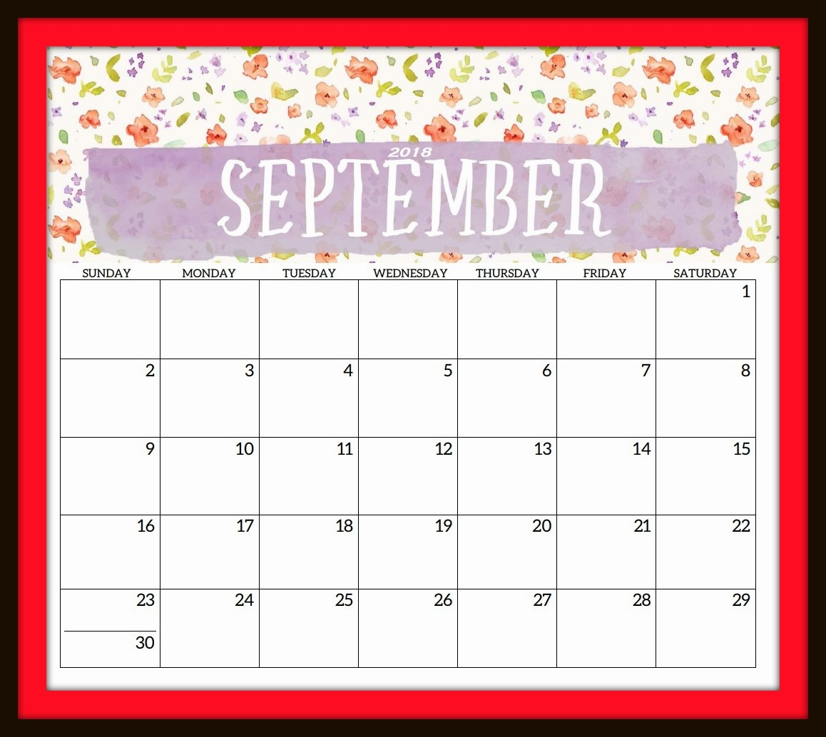 September 2018 Calendar Holidays USA