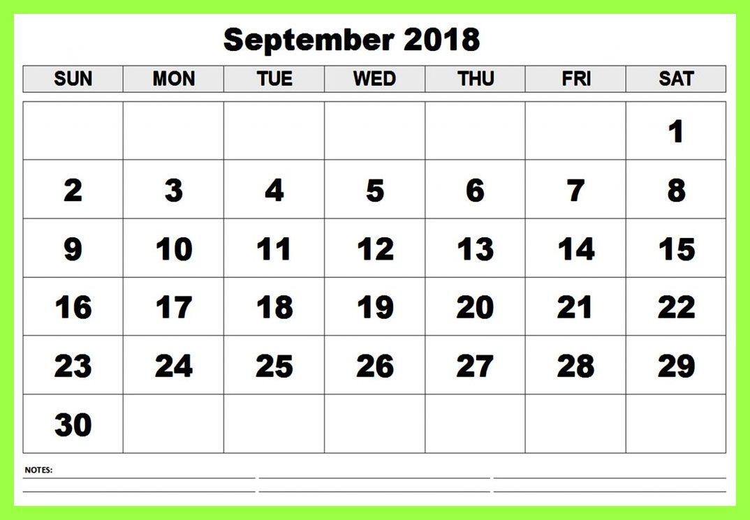 September 2018 Calendar Singapore Printable Template