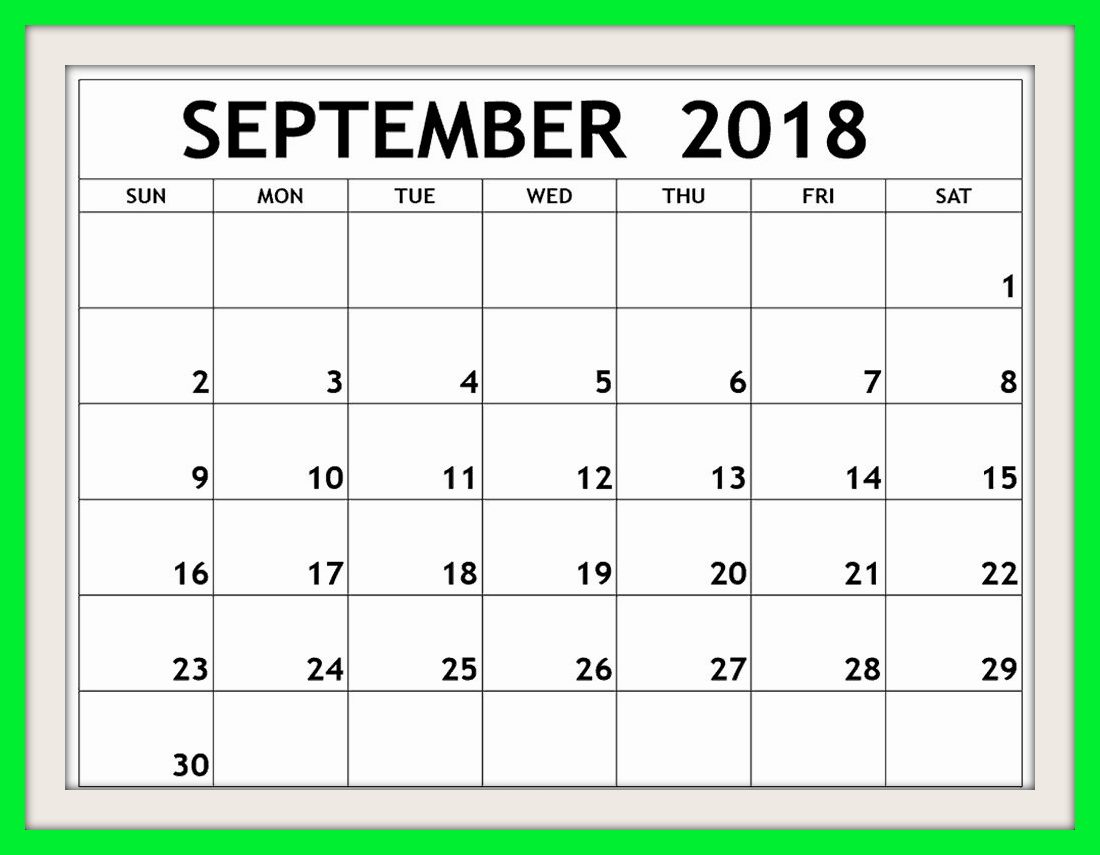 September 2018 Calendar South Africa Holidays
