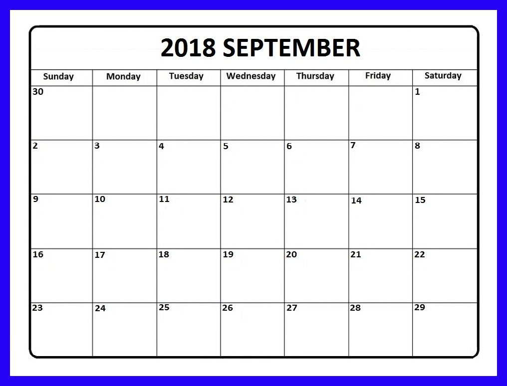 September 2018 Calendar Telugu Word excel Pdf