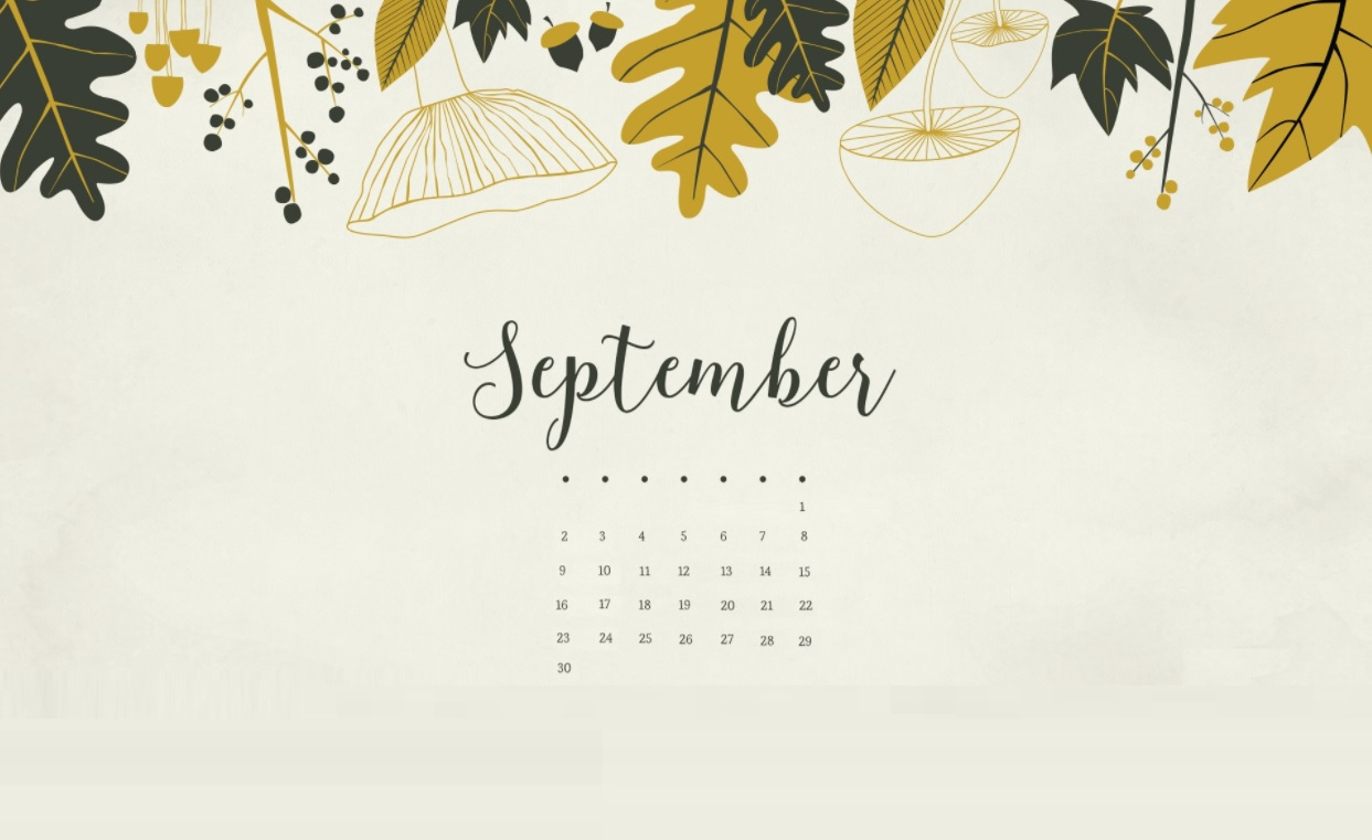 September 2018 Calendar Wallpapers