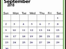 September 2018 Calendar to Print