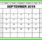 September 2018 Calendar with Holidays Printable