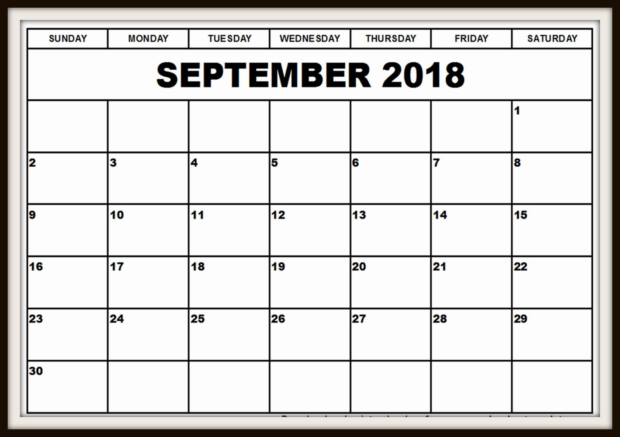 September 2018 Calendar with Holidays UK