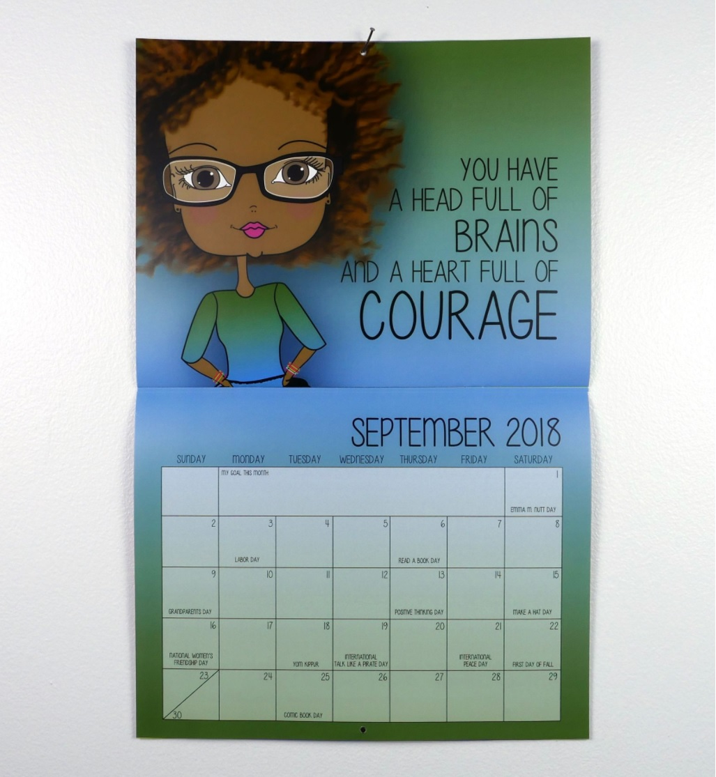 September 2018 Calendar with Motivational Quotes