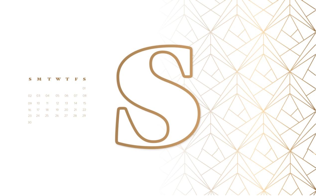 September 2018 Desktop Calendar Design