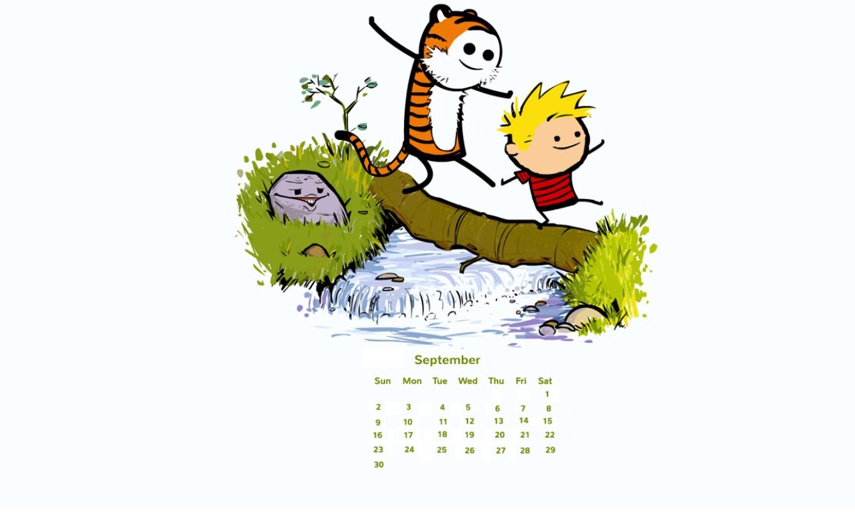 September 2018 Desktop Calendar Download