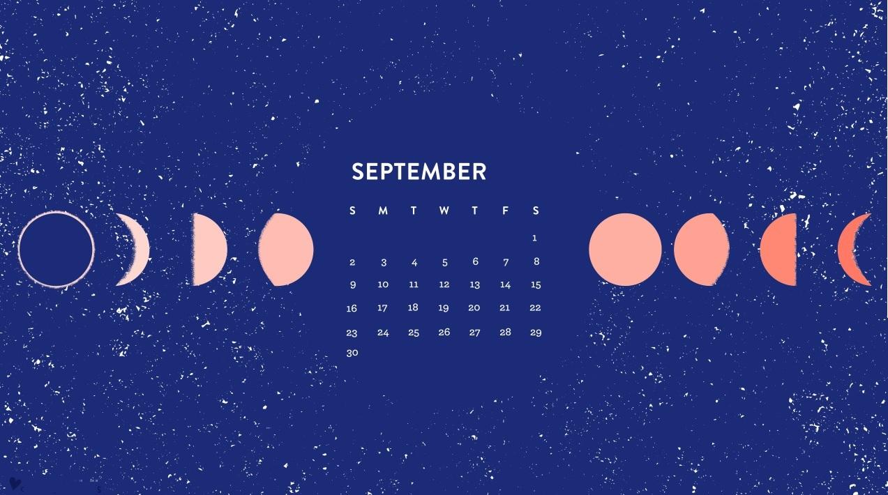 September 2018 Desktop Moon Calendar