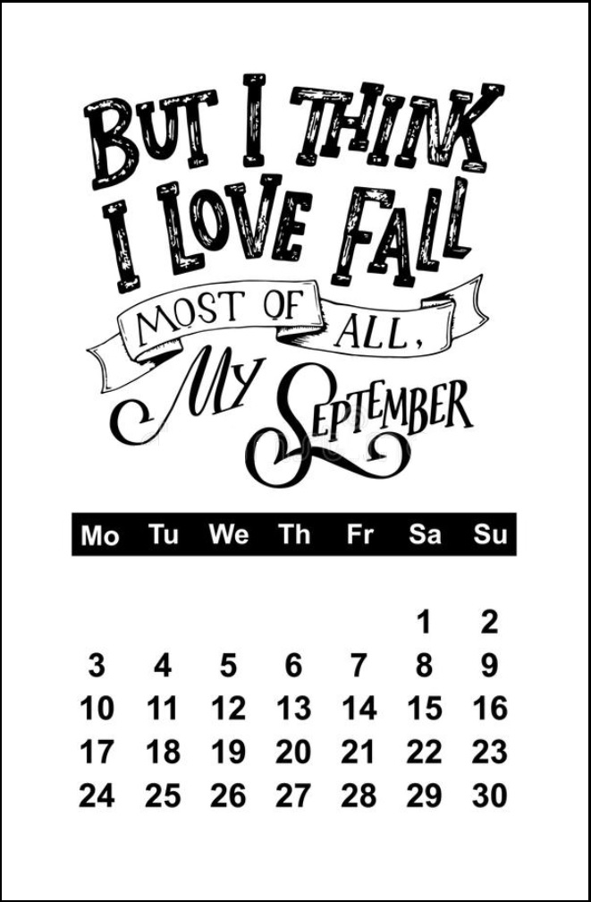 September 2018 Motivational Calendar