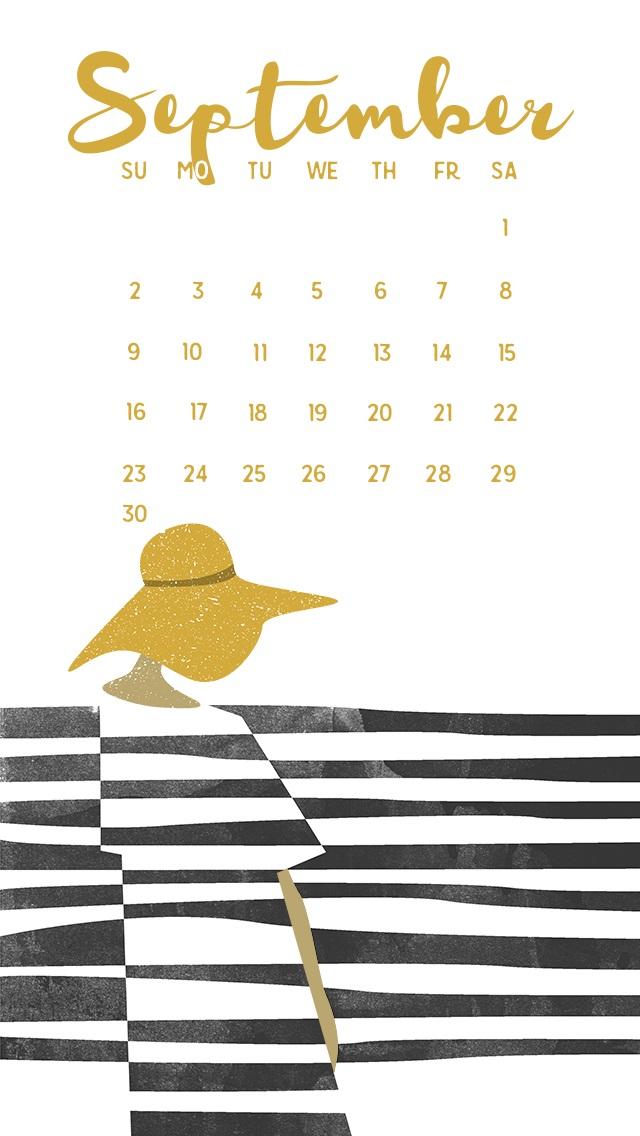 September 2018 iPhone Calendar Background