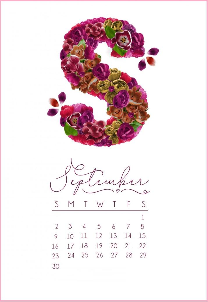 September 2018 iPhone Calendar