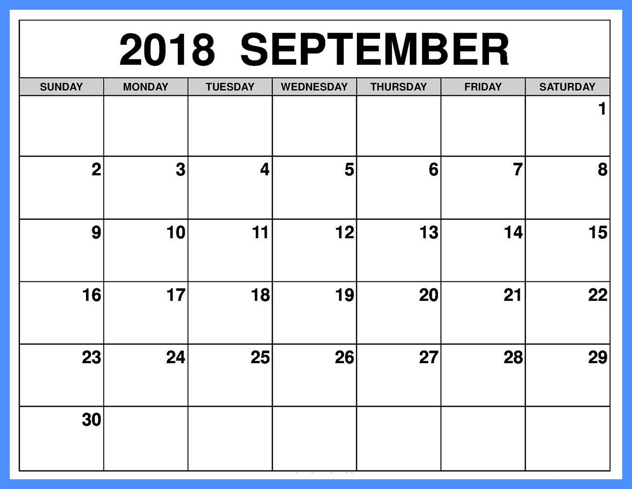 September Calendar Singapore