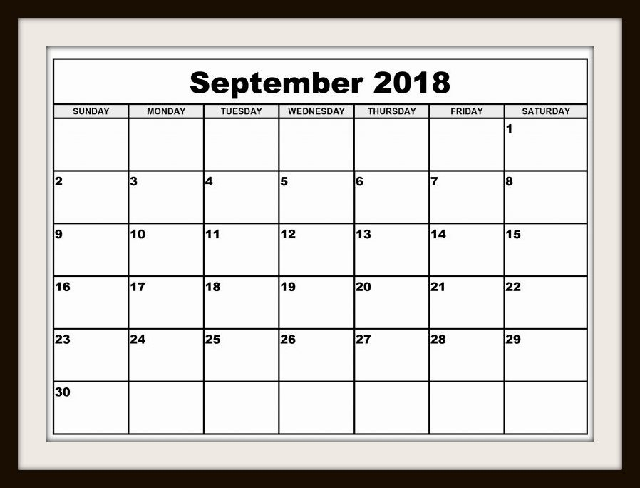 September Calendar USA