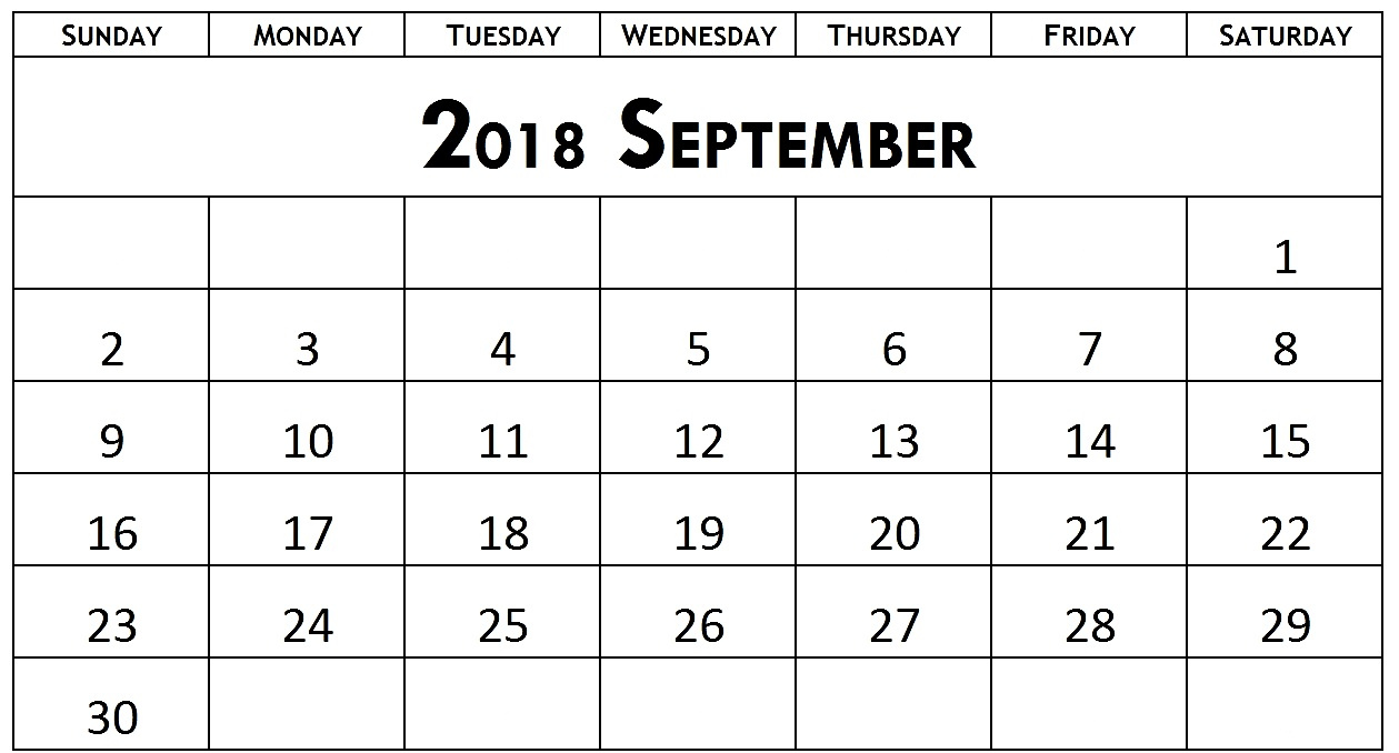 September 2018 Calendar In Spanish
