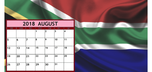 South Africa Calendar October 2018