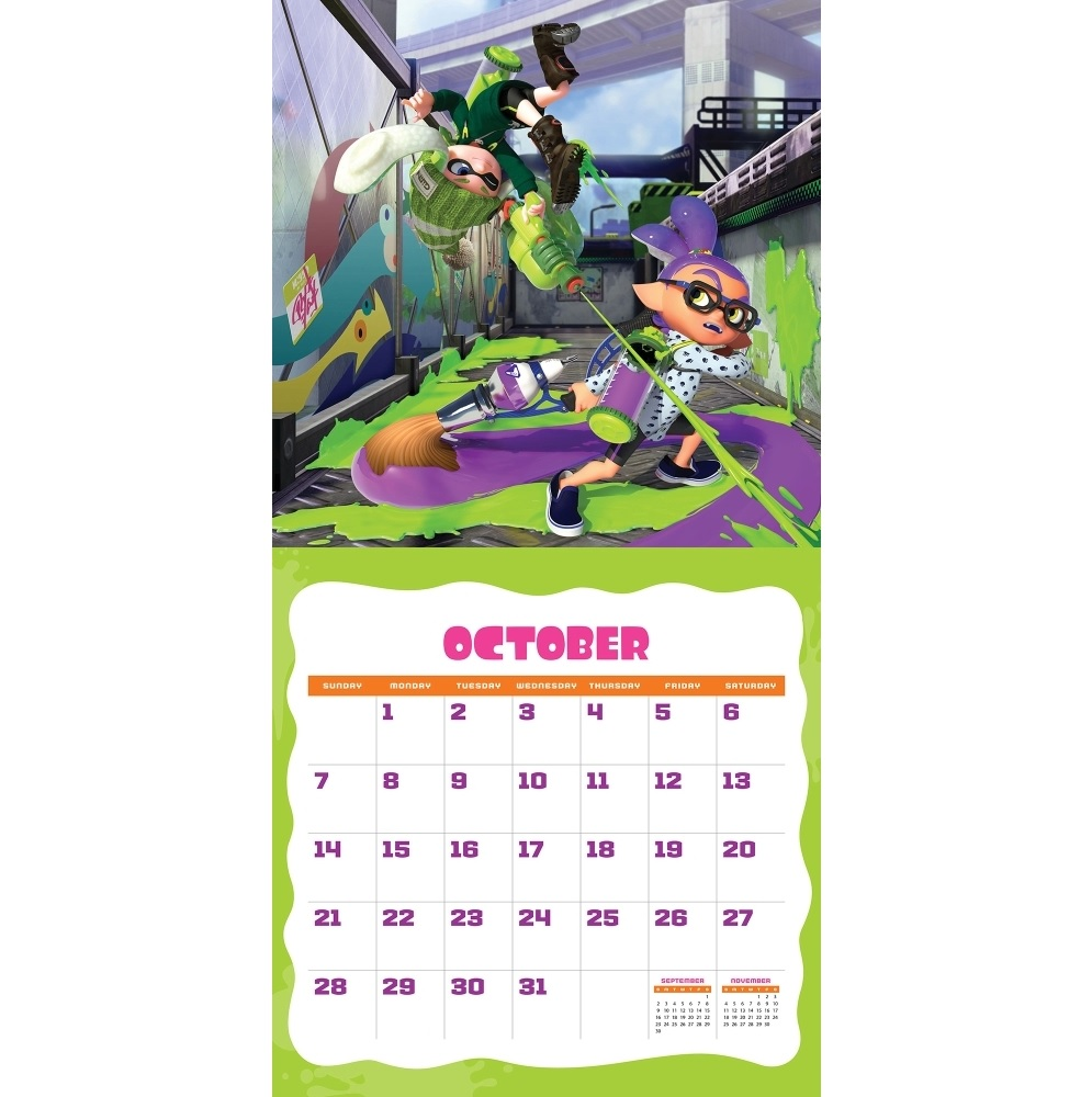Splatoon Calendar October 2018
