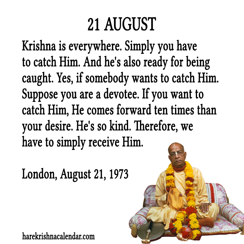 Srila Prabhupada Quotes For Month August21