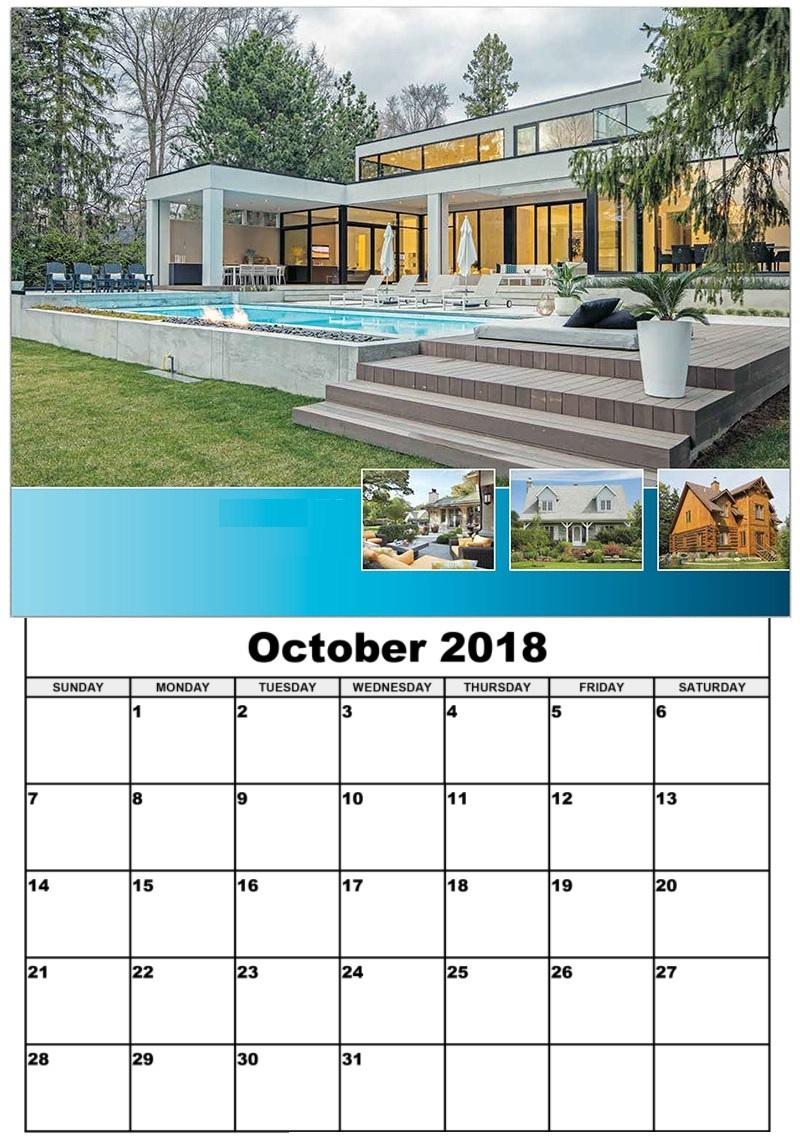 Wall Calendar October 2018