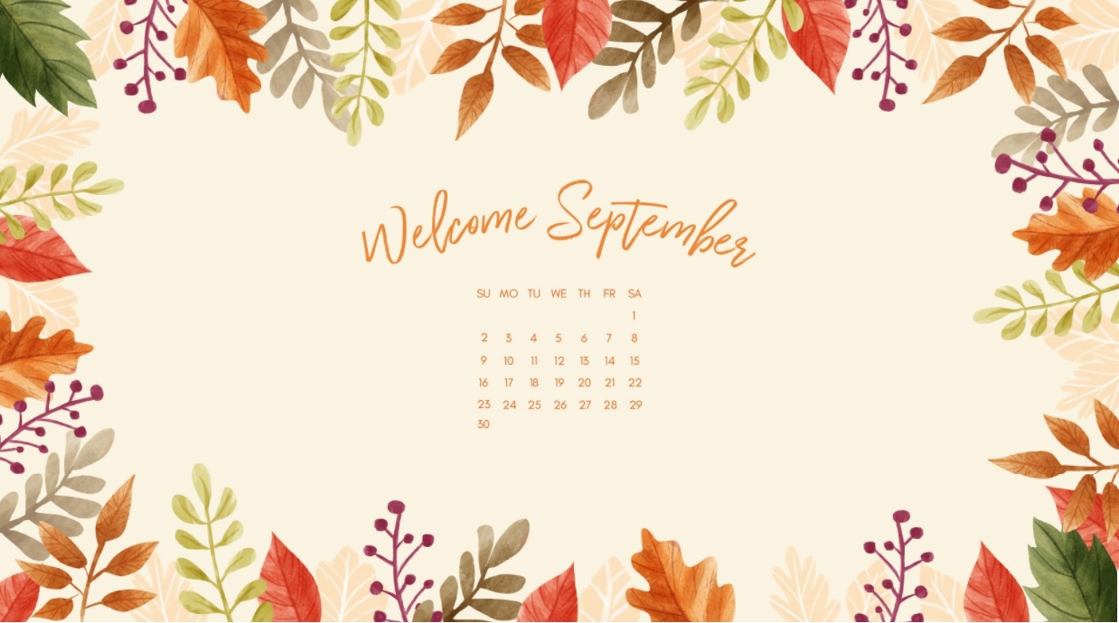 Welcome September 2018 Calendar Wallpapers