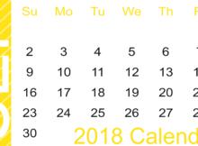 Blank Calendar September 2018 Landscape