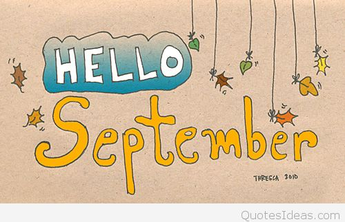 Free Hello September Clipart