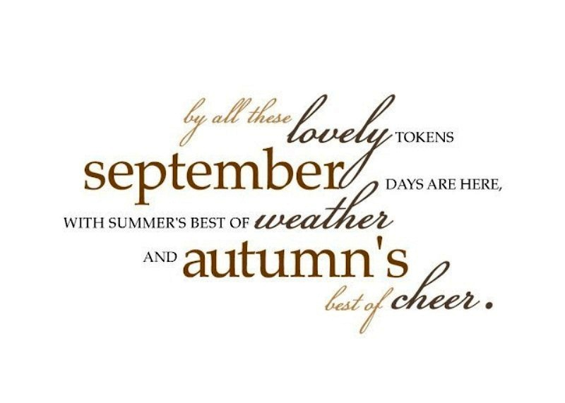 Free Welcome September Quotes