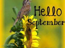 Goodbye August Hello September