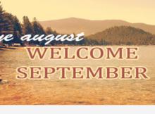 Goodbye August Hello September Wallpaper