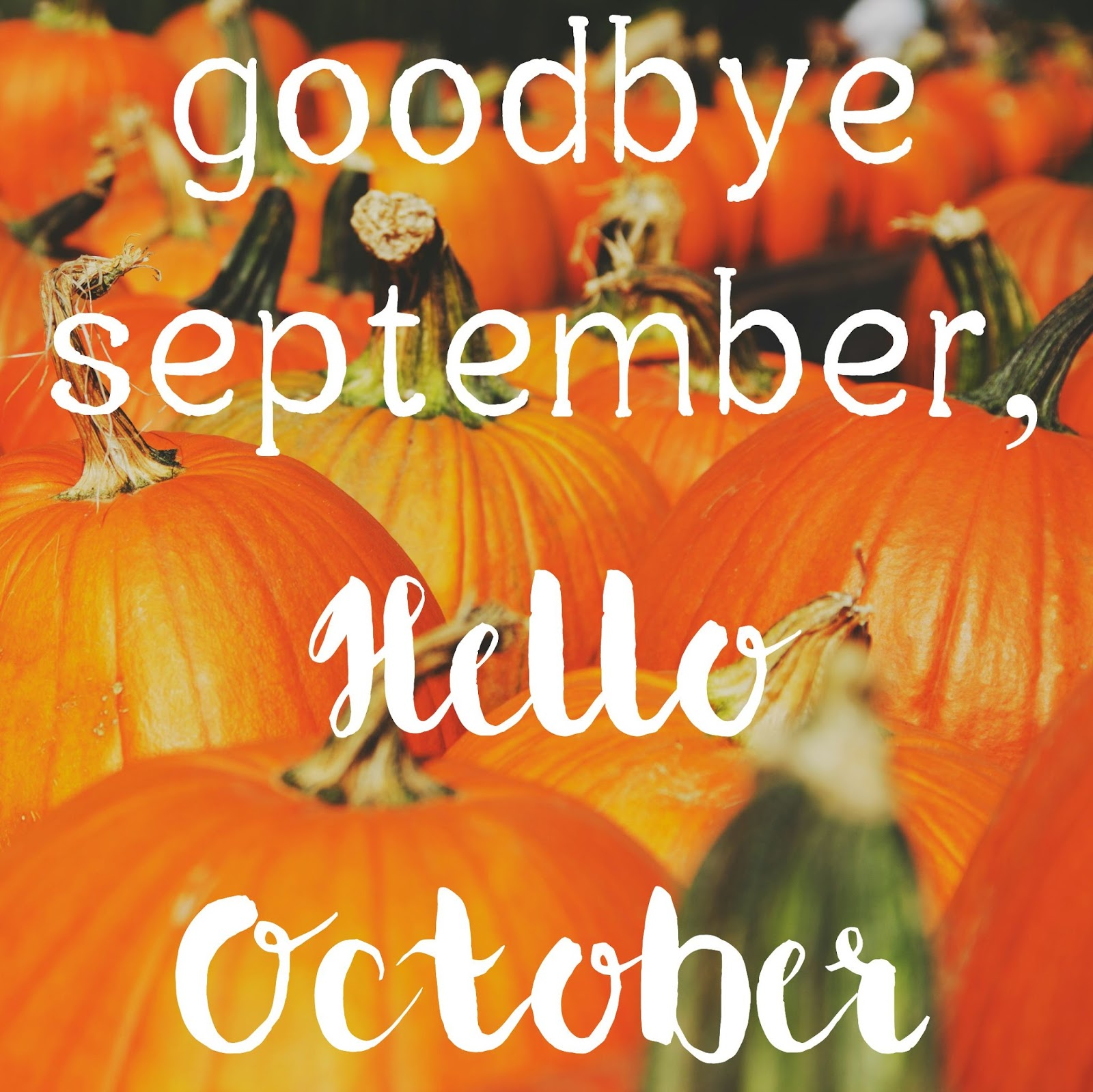 Goodbye September Hello October Halloween Images