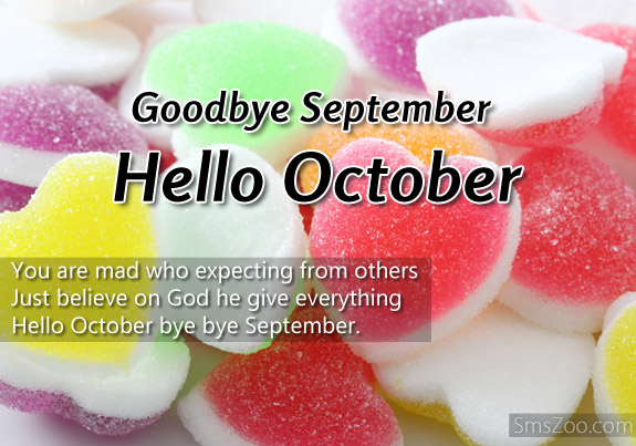 Goodbye September Hello October Images Free