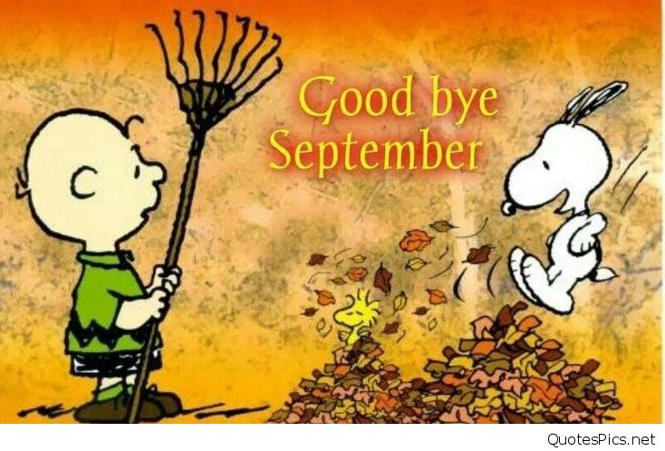 Goodbye September Hello October Snoopy Images