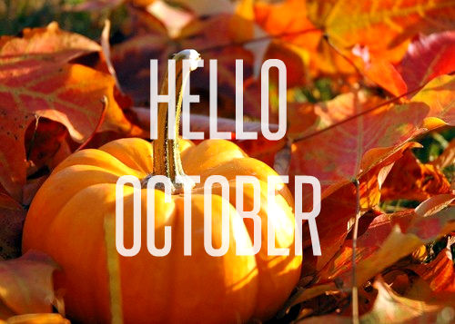 Hello October Images With Pumpkins