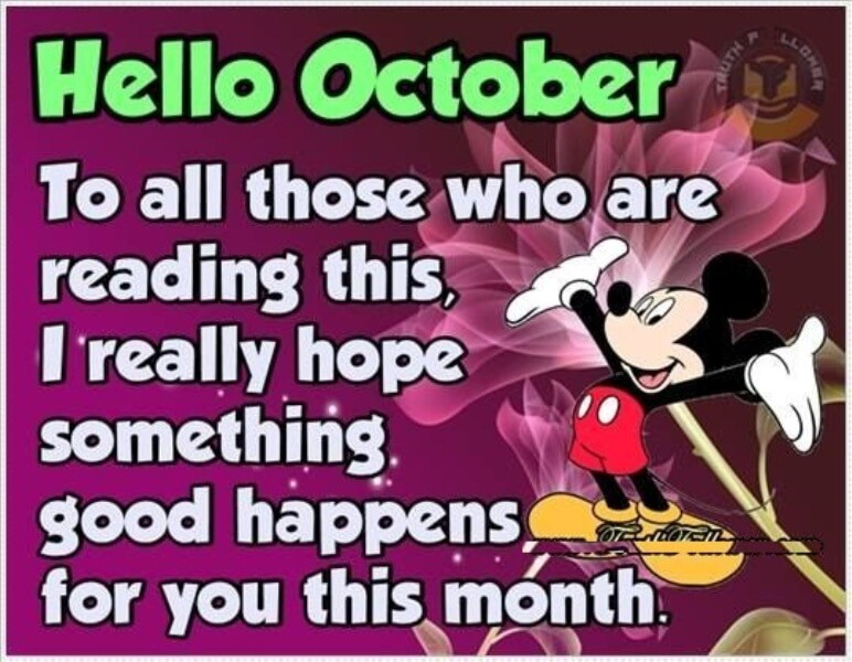 Hello October Month Quotes