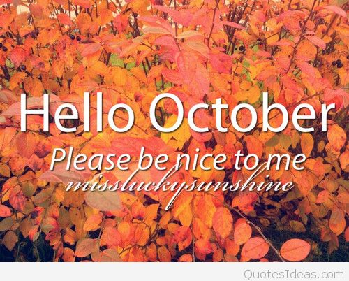 Hello October Quotes Please Be Nice to Me