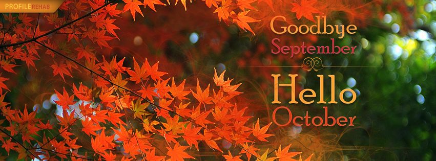 Hello October Quotes for Facebook Cover