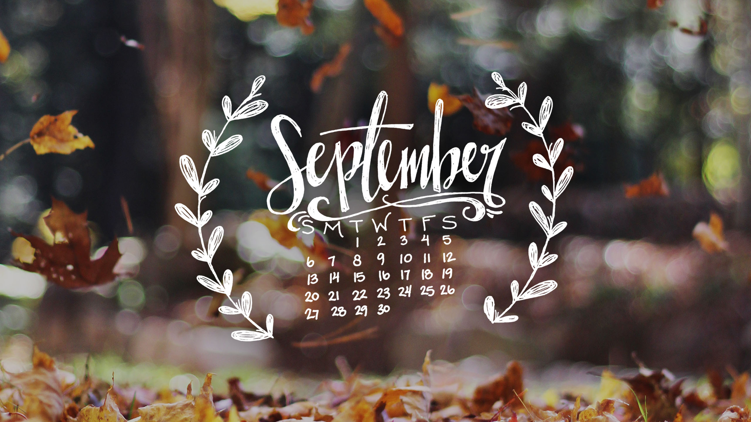 Hello September Calendar Wallpaper