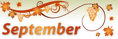Hello September Clipart Banner