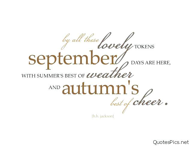 Hello September Goodbye August Wallpaper