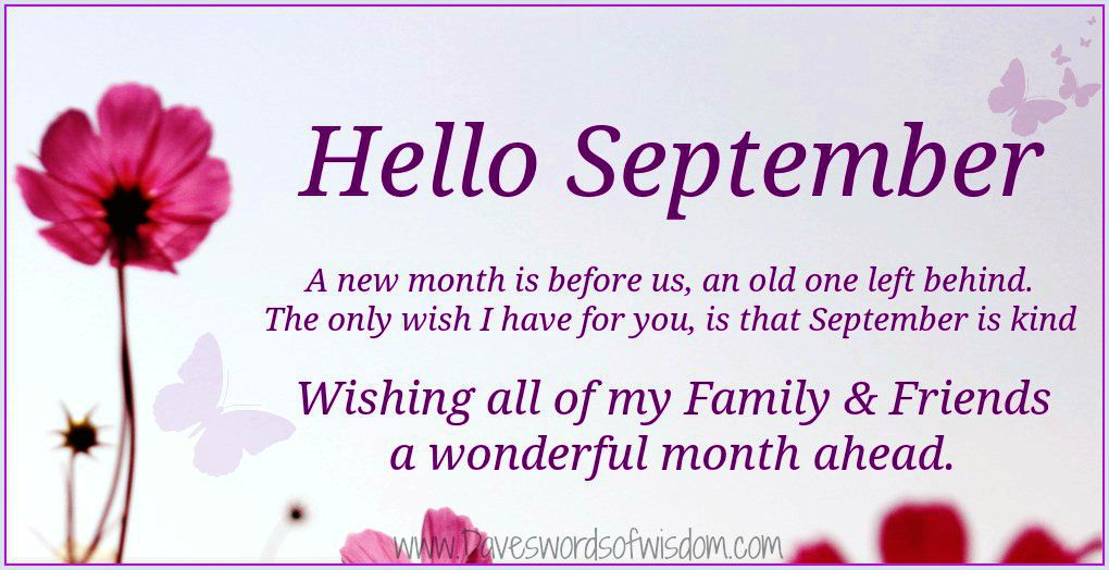 Hello September Pictures Sayings