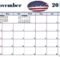 November 2018 Word Calendar