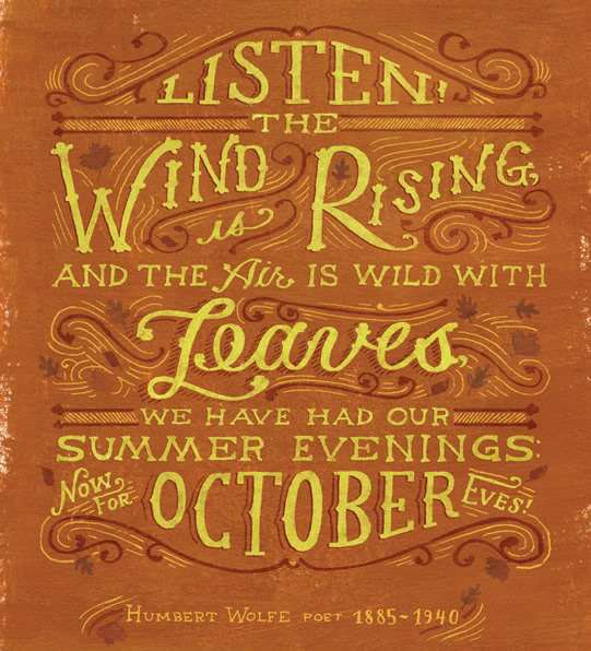 Quotes To Welcome October