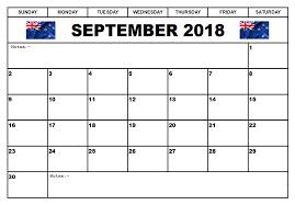 September 2018 New Zealand Calendar