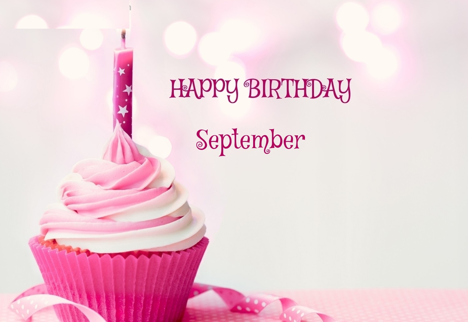 September Birthday Cup Cake Images, Quotes For Whatsapp